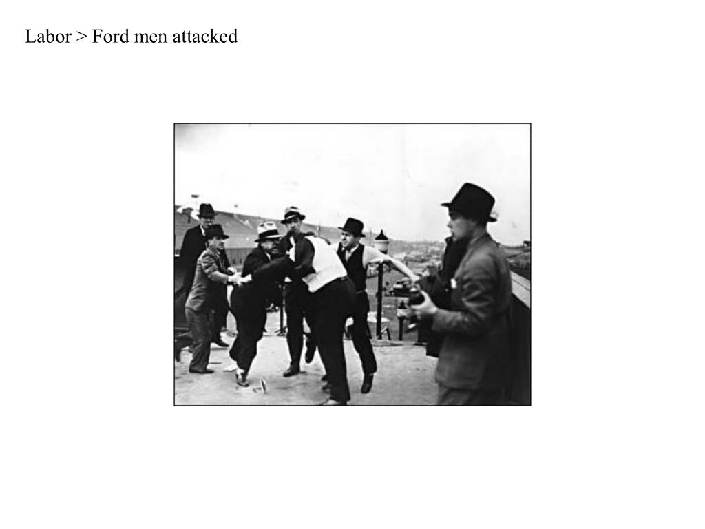 Labor > Ford men attacked