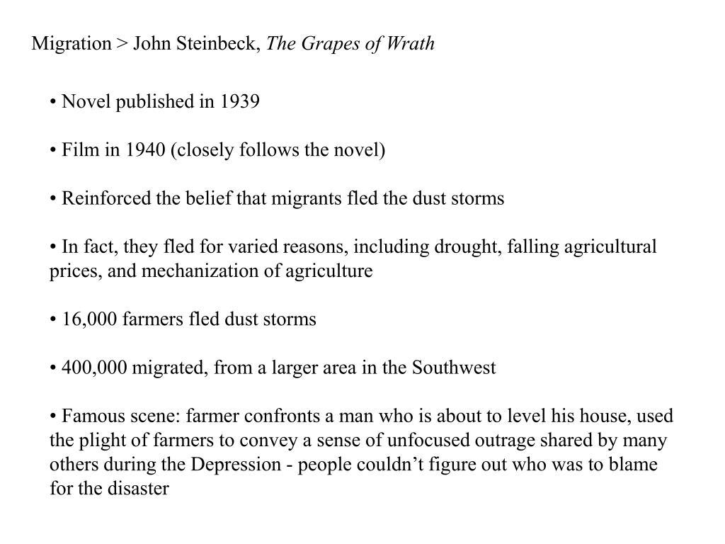 Migration > John Steinbeck,