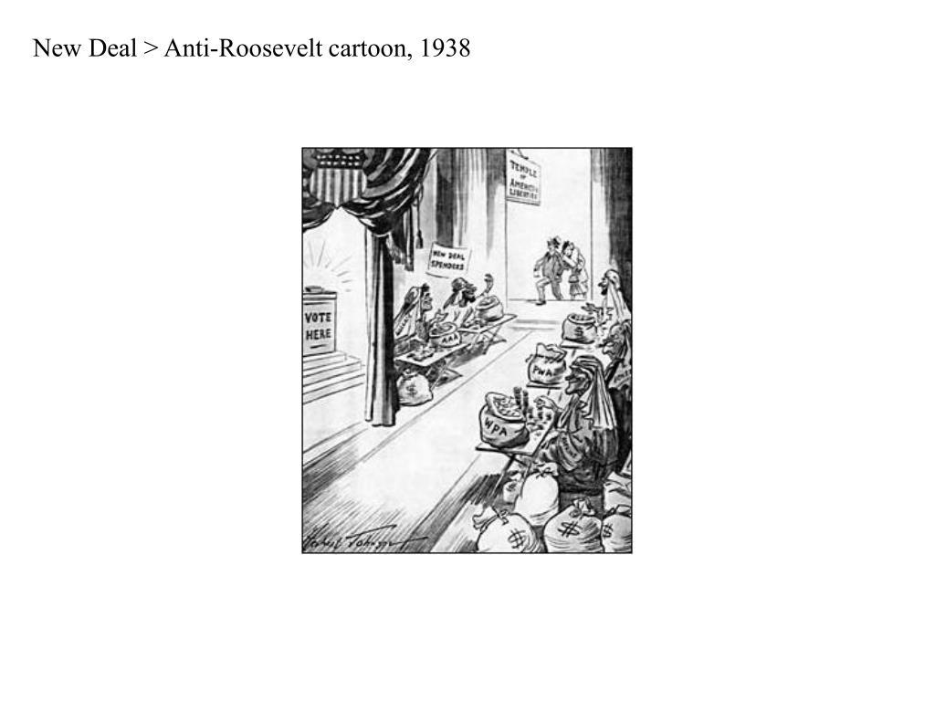 New Deal > Anti-Roosevelt cartoon, 1938