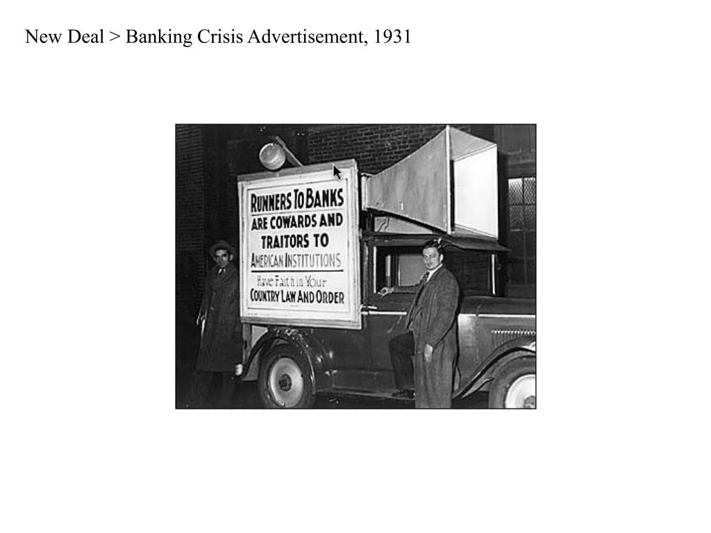 New Deal > Banking Crisis Advertisement, 1931