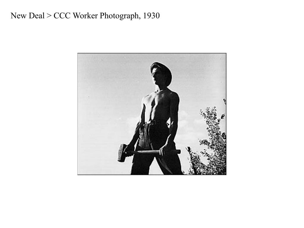 New Deal > CCC Worker Photograph, 1930