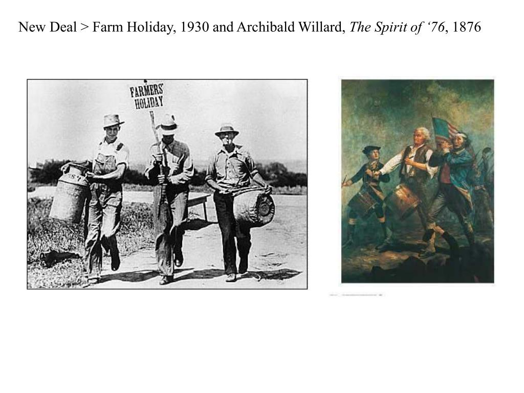 New Deal > Farm Holiday, 1930 and Archibald Willard,