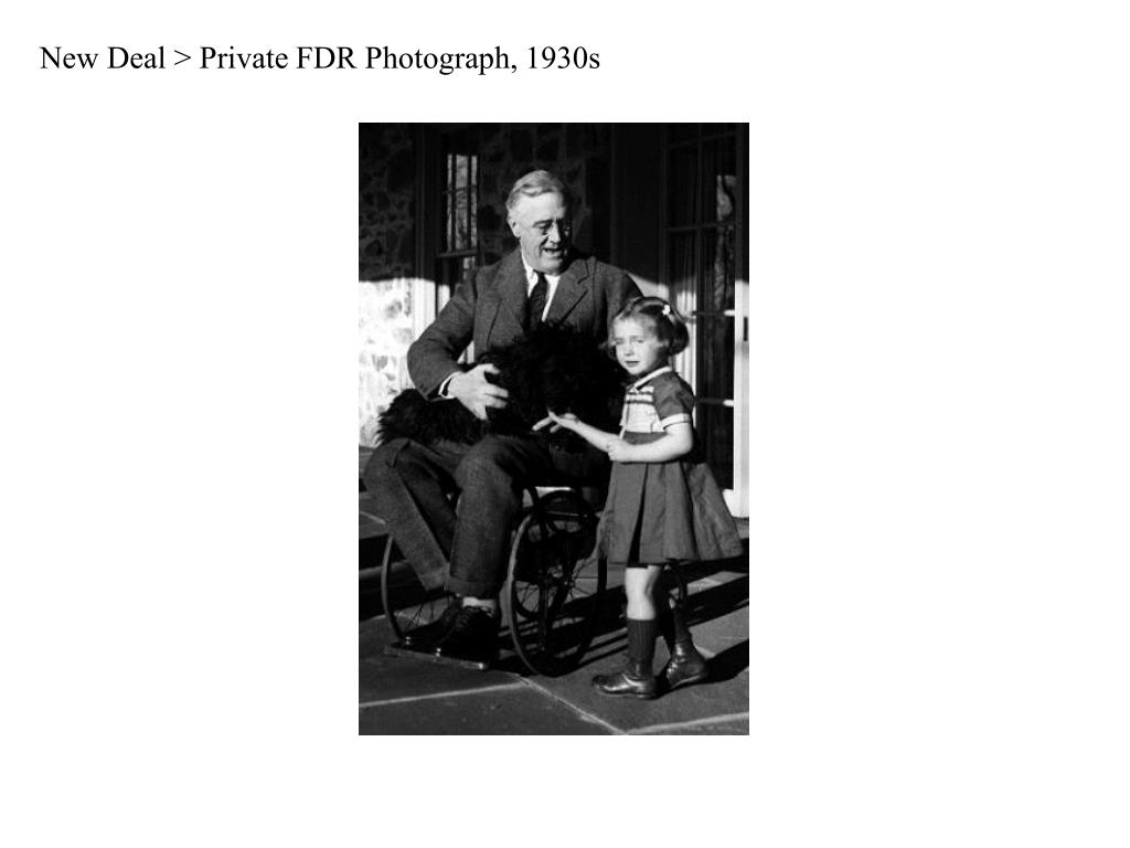 New Deal > Private FDR Photograph, 1930s