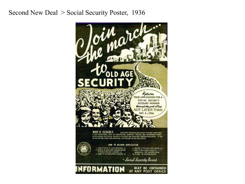 Second New Deal  > Social Security Poster,  1936
