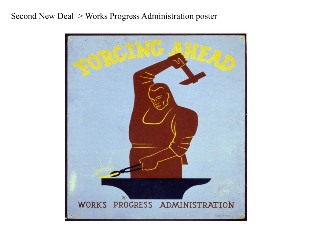 Second New Deal  > Works Progress Administration poster