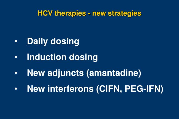HCV therapies - new strategies
