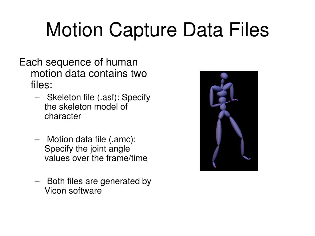 Motion Capture Data Files