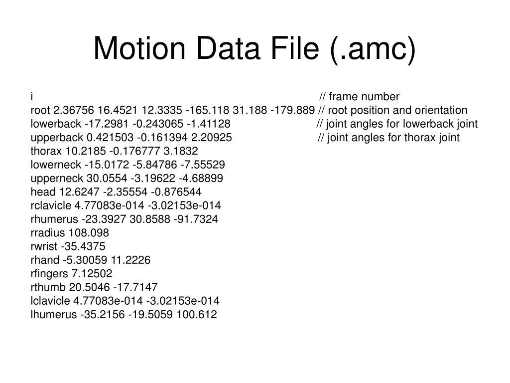 Motion Data File (.amc)