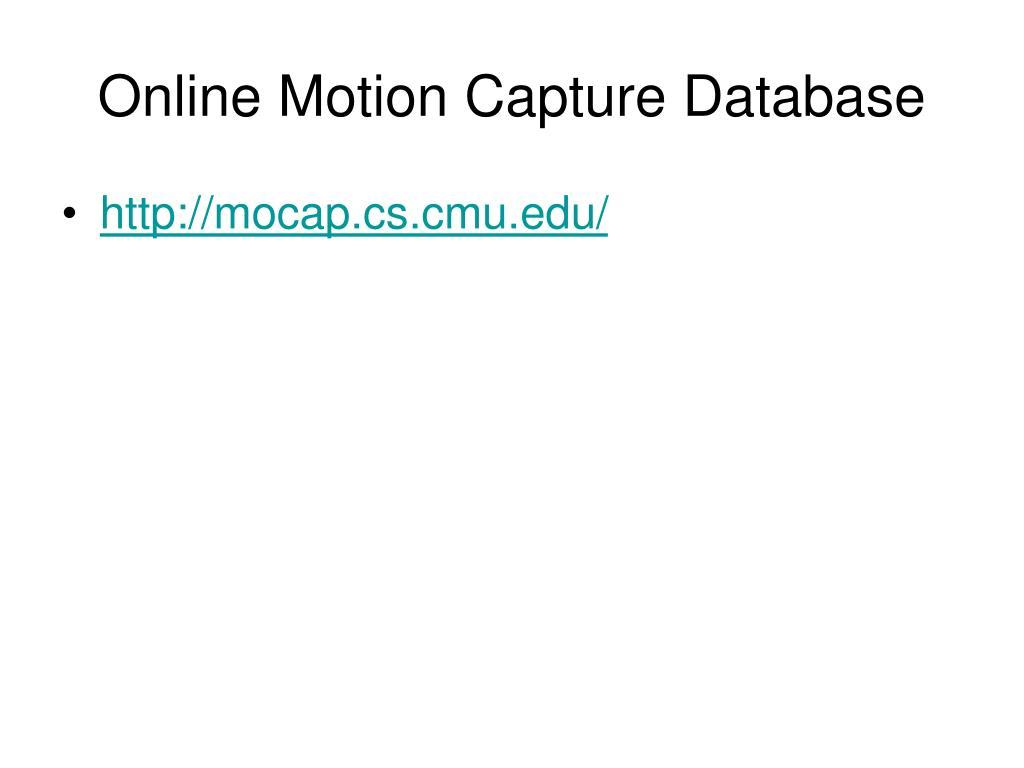 Online Motion Capture Database