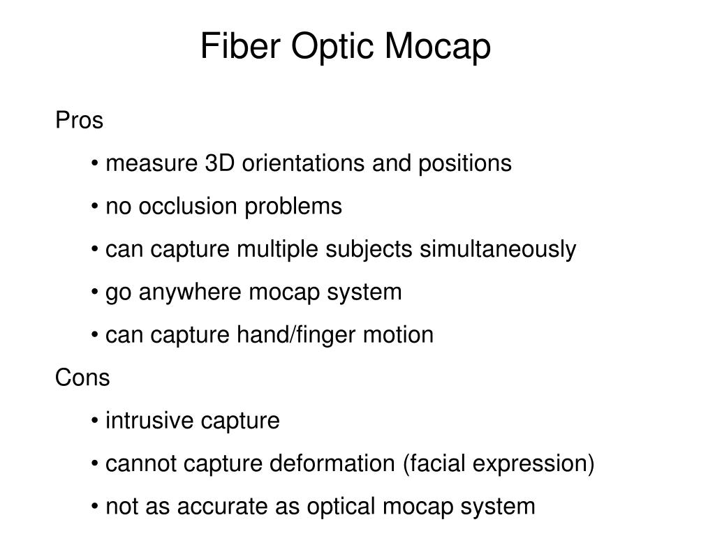 Fiber Optic Mocap