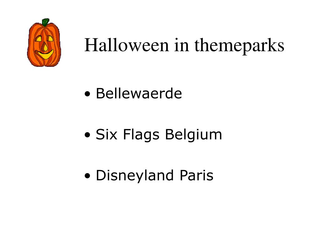 Halloween in themeparks