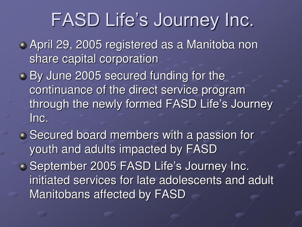 FASD Life's Journey Inc.