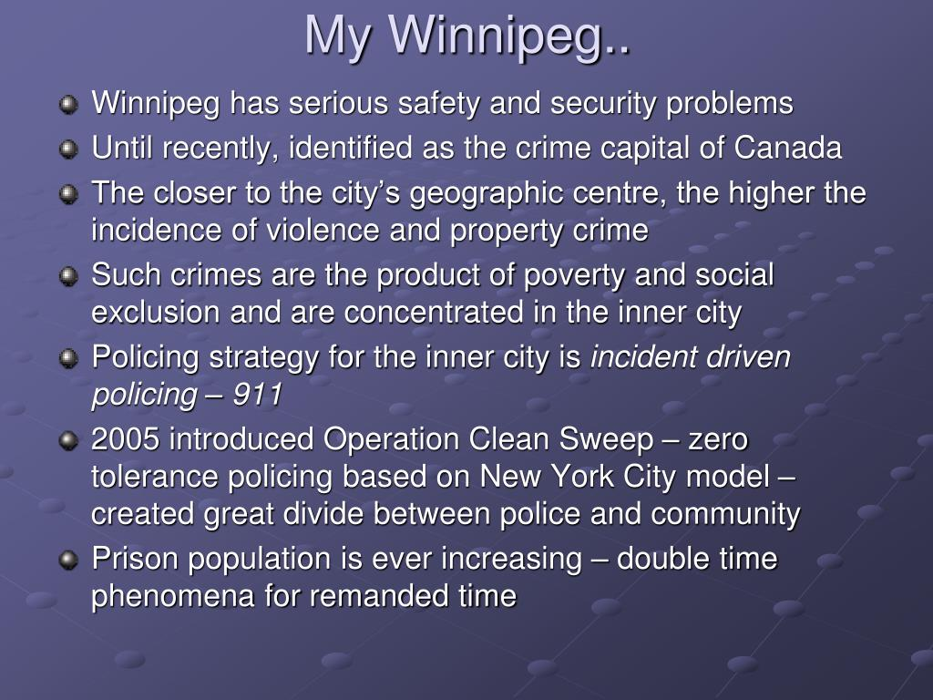 My Winnipeg..