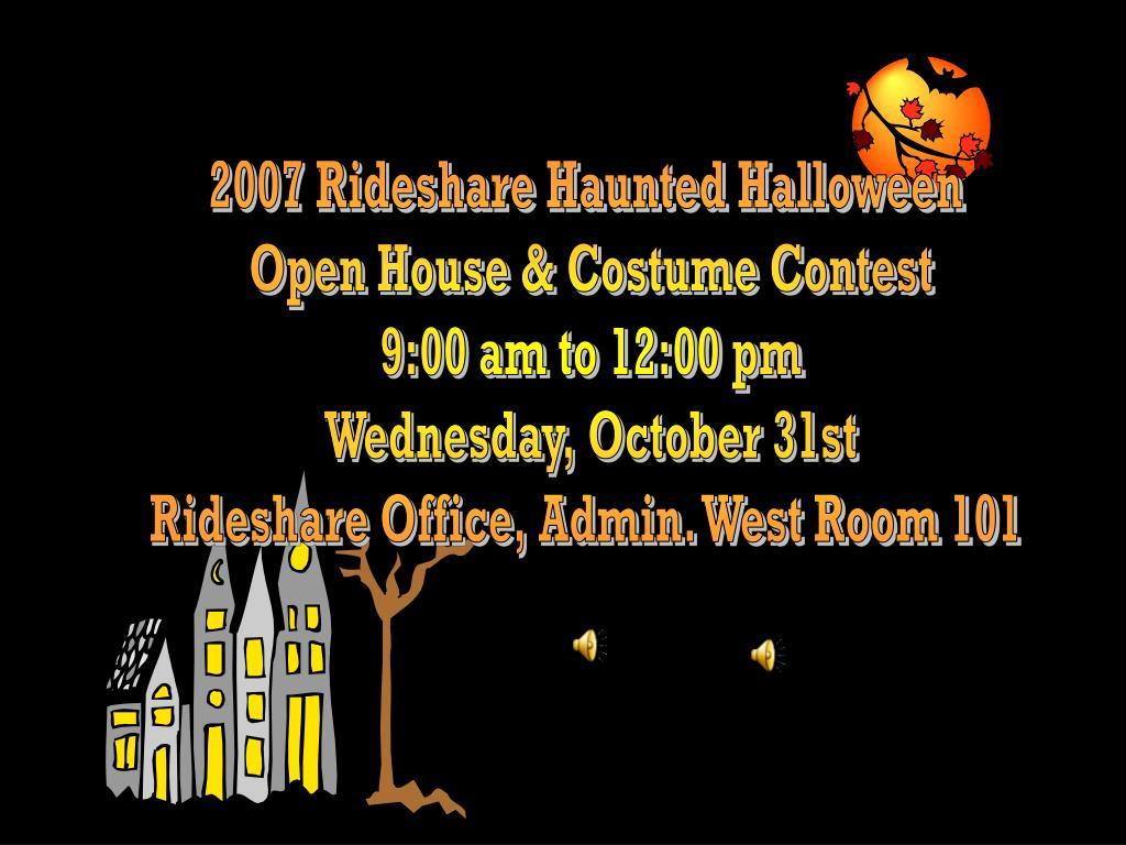 2007 Rideshare Haunted Halloween