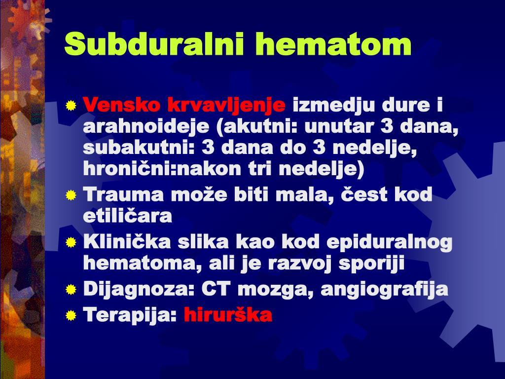 Subduralni hematom