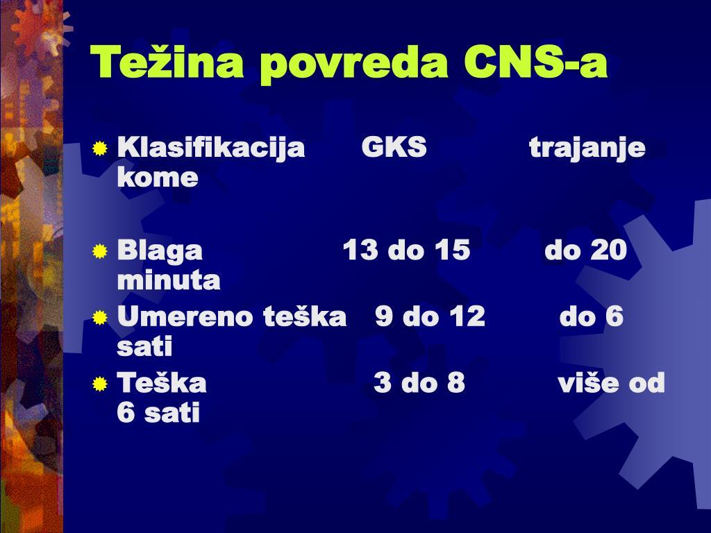 Težina povreda CNS-a