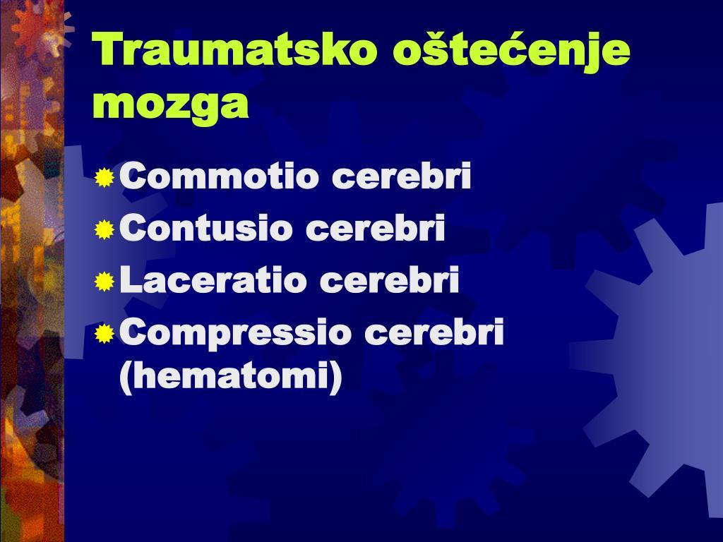 Traumatsko oštećenje mozga