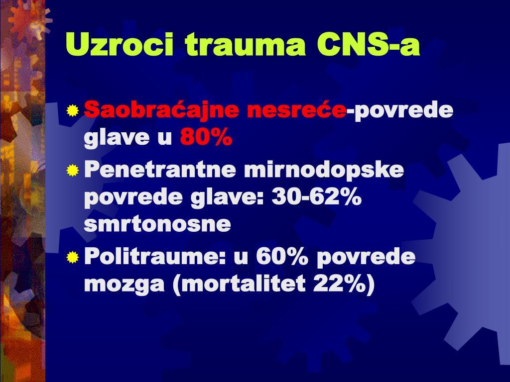 Uzroci trauma CNS-a