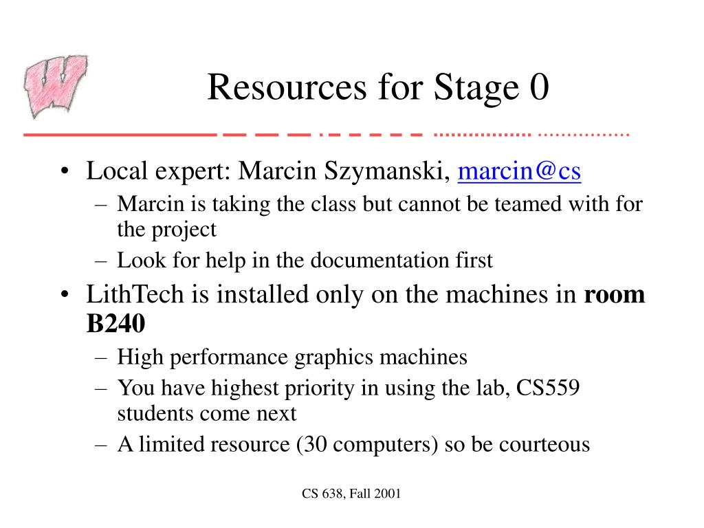 Resources for Stage 0