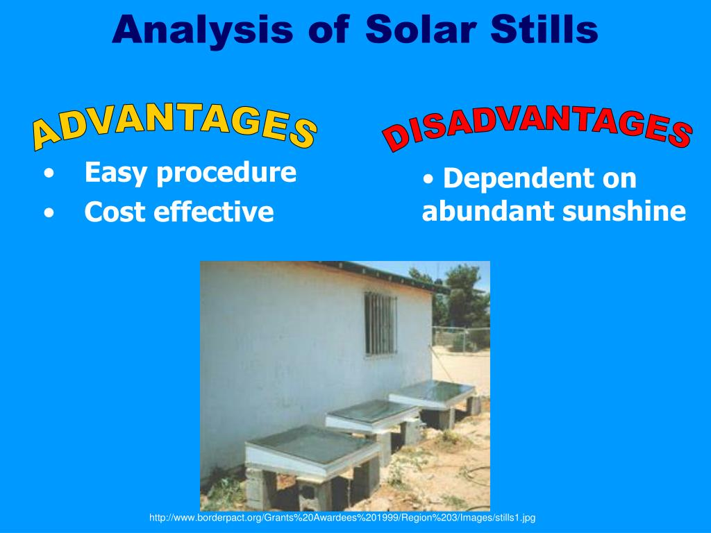 Analysis of Solar Stills