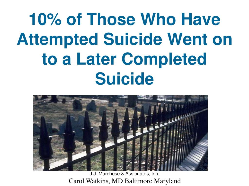 10% of Those Who Have Attempted Suicide Went on to a Later Completed Suicide