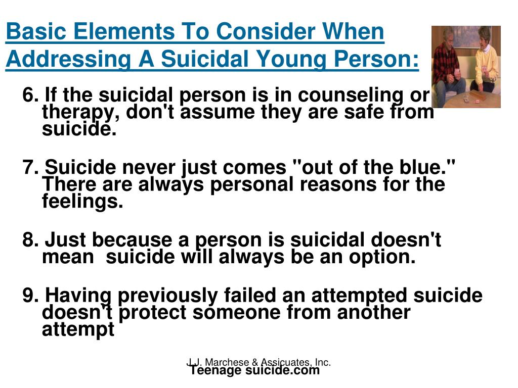Basic Elements To Consider When Addressing A Suicidal Young Person: