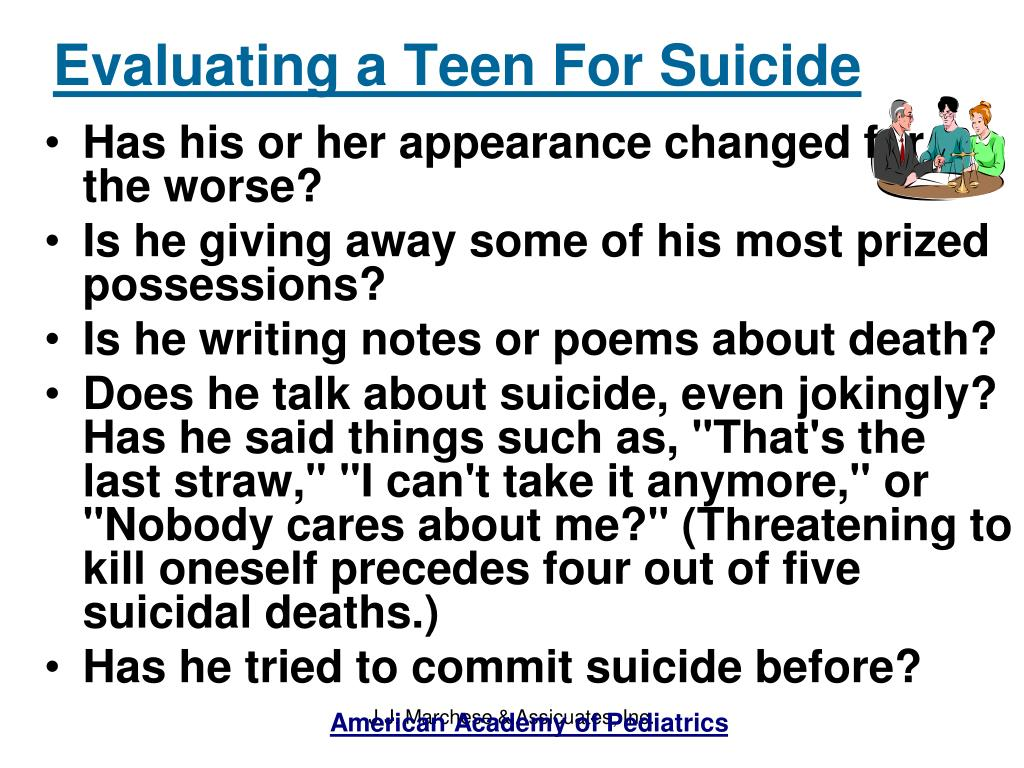Evaluating a Teen For Suicide