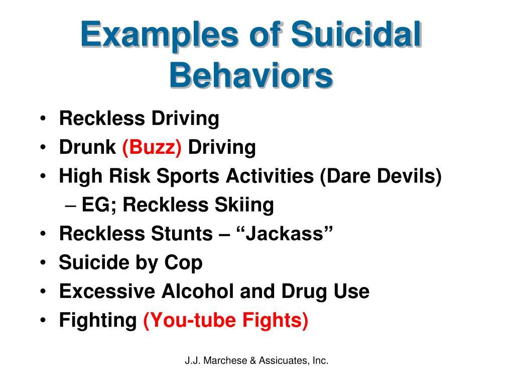Examples of Suicidal Behaviors