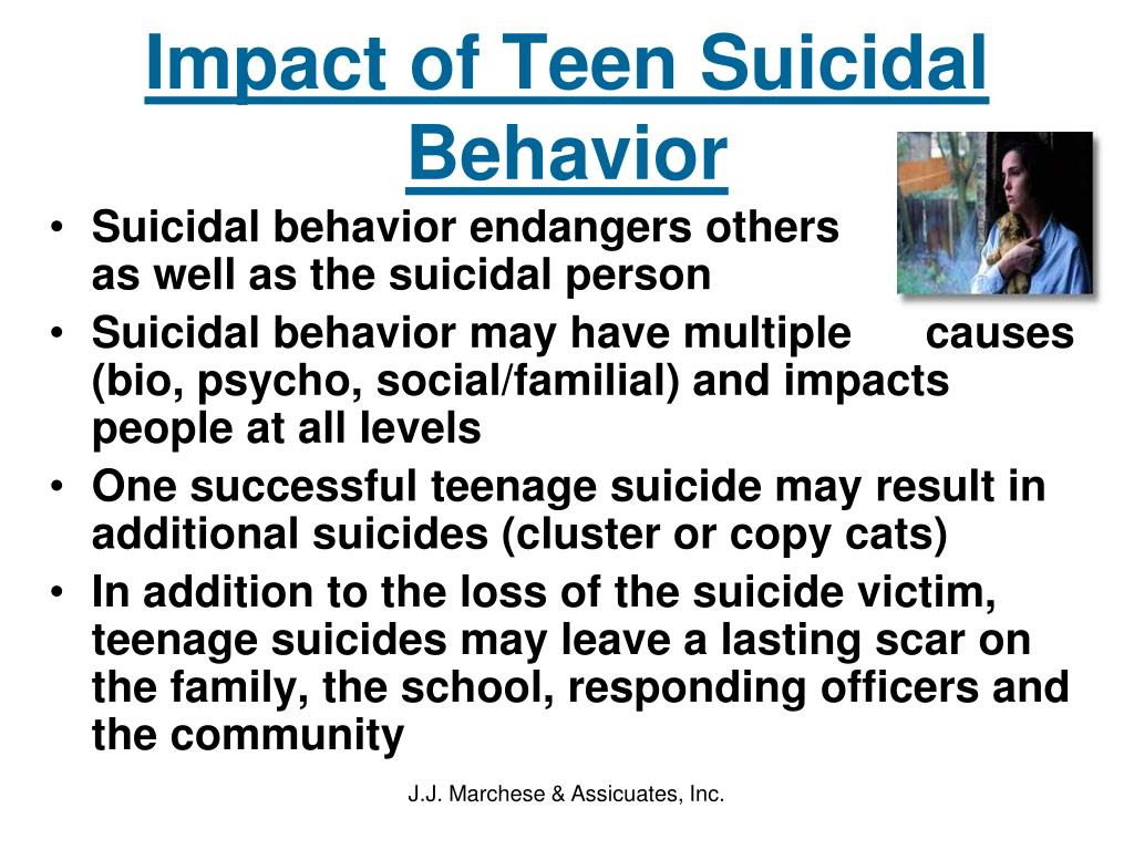 Impact of Teen Suicidal Behavior