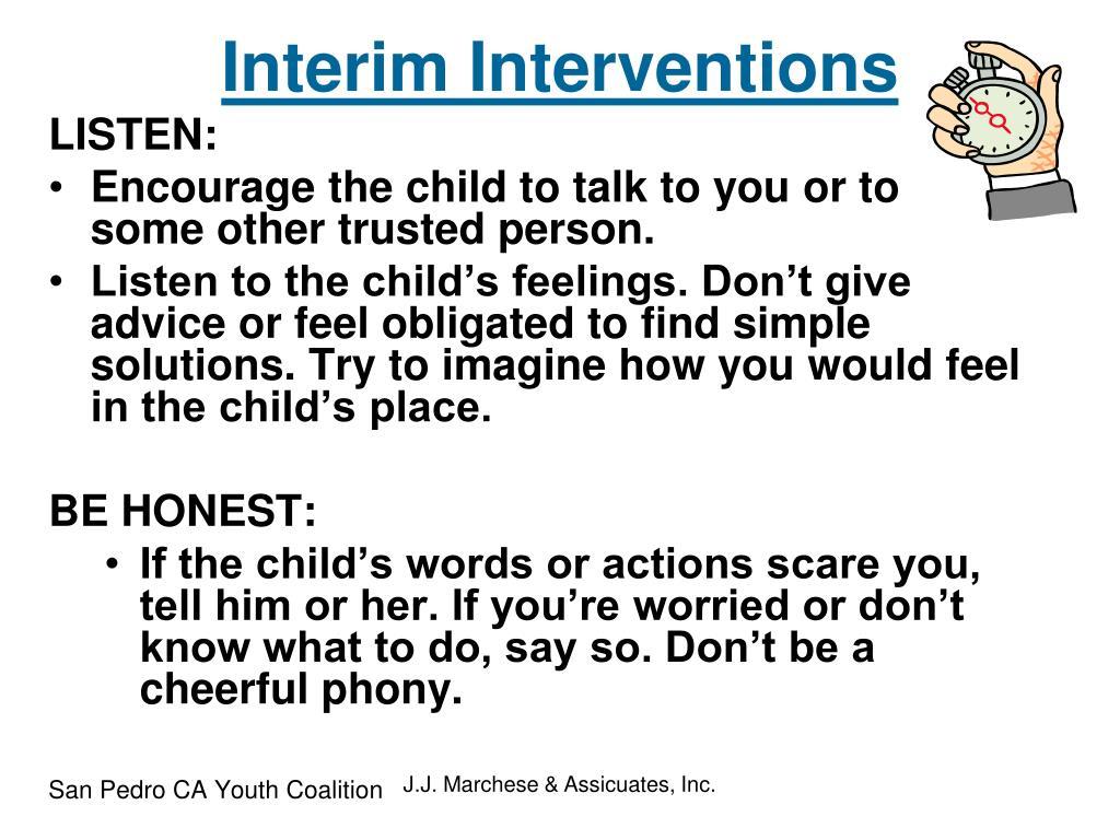 Interim Interventions
