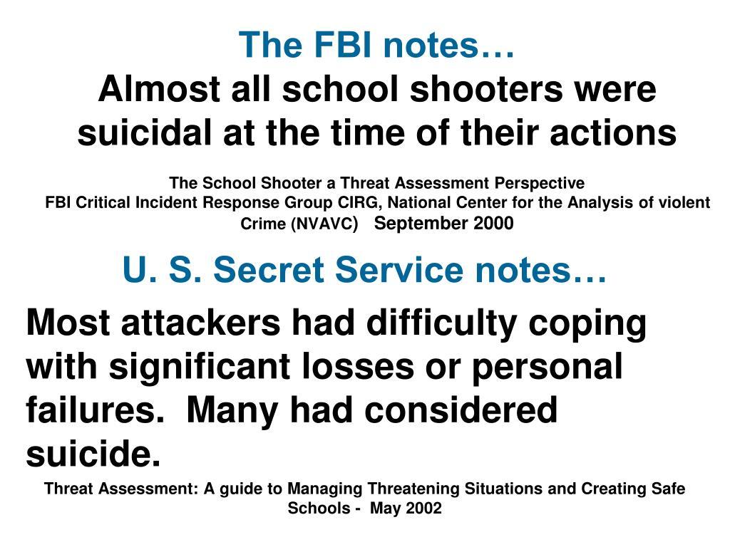 The FBI notes…