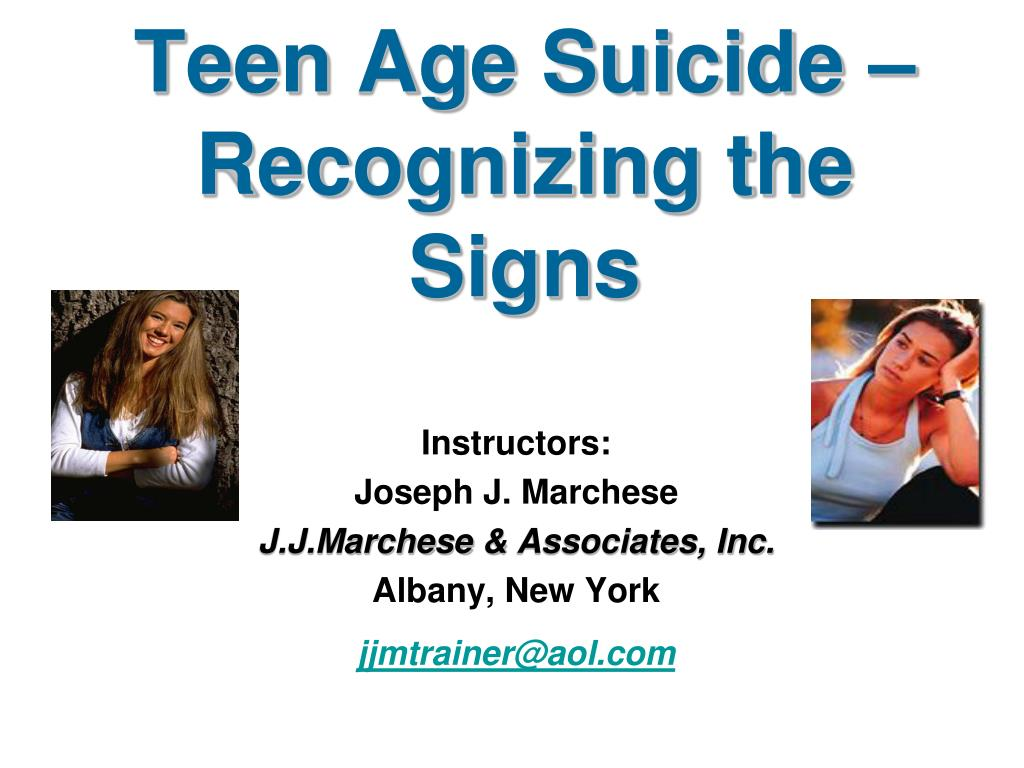 Teen Age Suicide – Recognizing the Signs