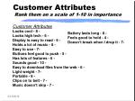 customer attributes rank them on a scale of 1 10 in importance