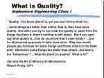 what is quality sophomore engineering clinic i4