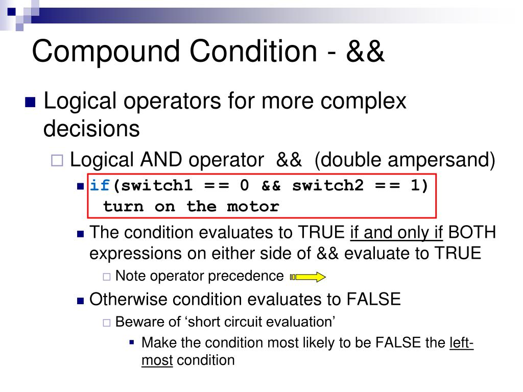 Compound Condition - &&
