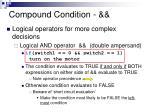 compound condition