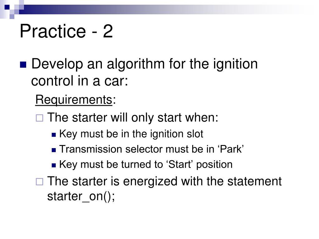 Practice - 2