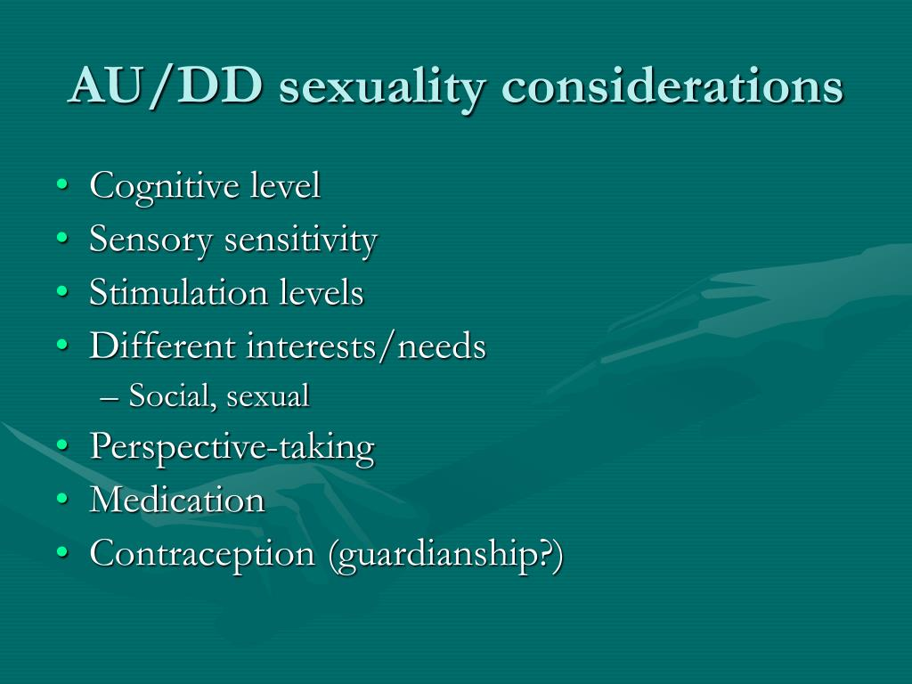 AU/DD sexuality considerations