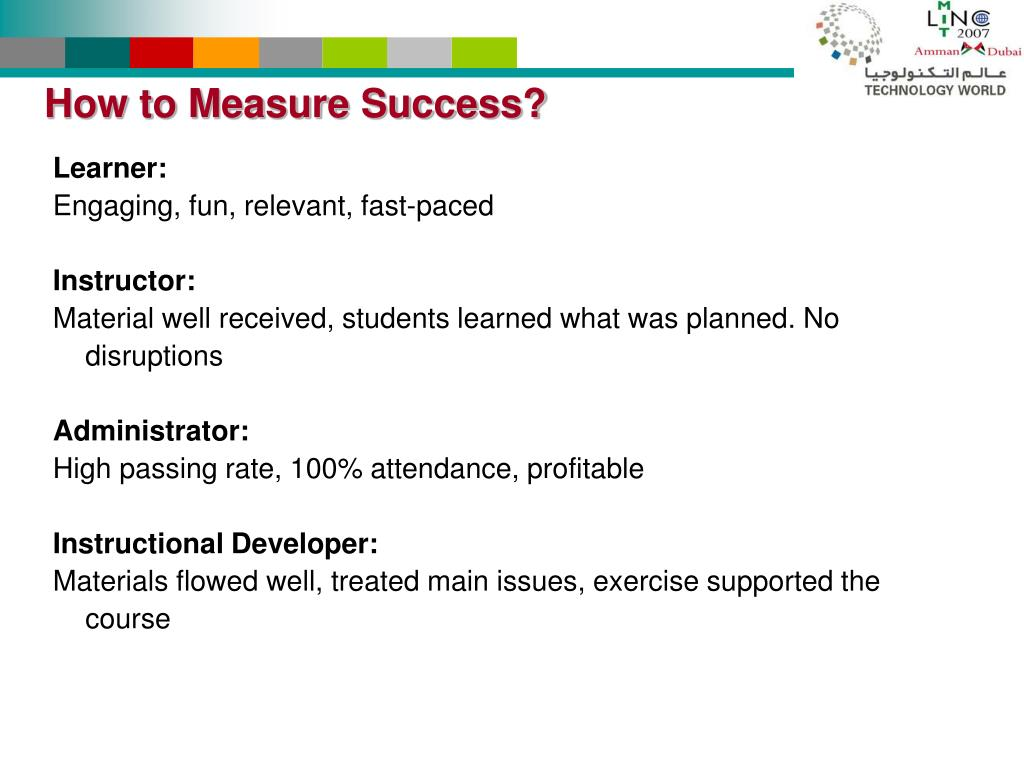 How to Measure Success?