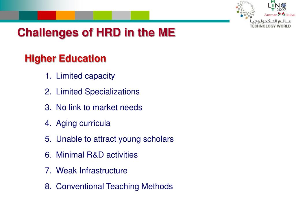 Challenges of HRD in the ME