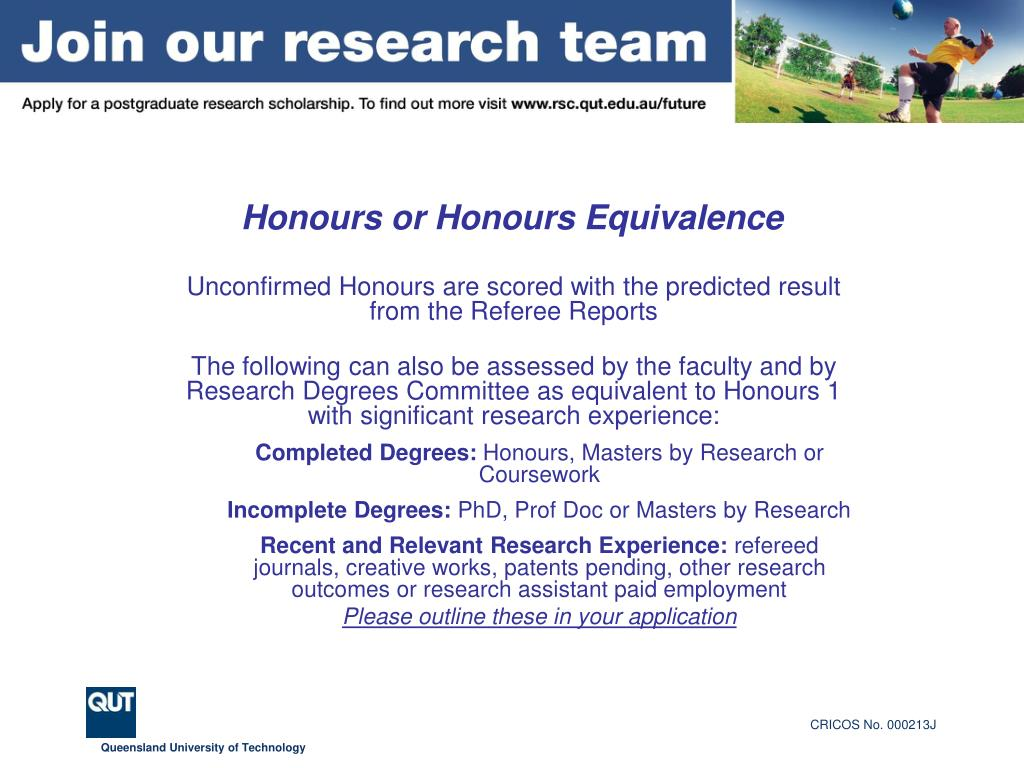 Honours or Honours Equivalence
