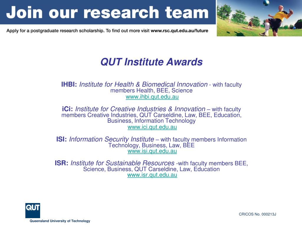 QUT Institute Awards