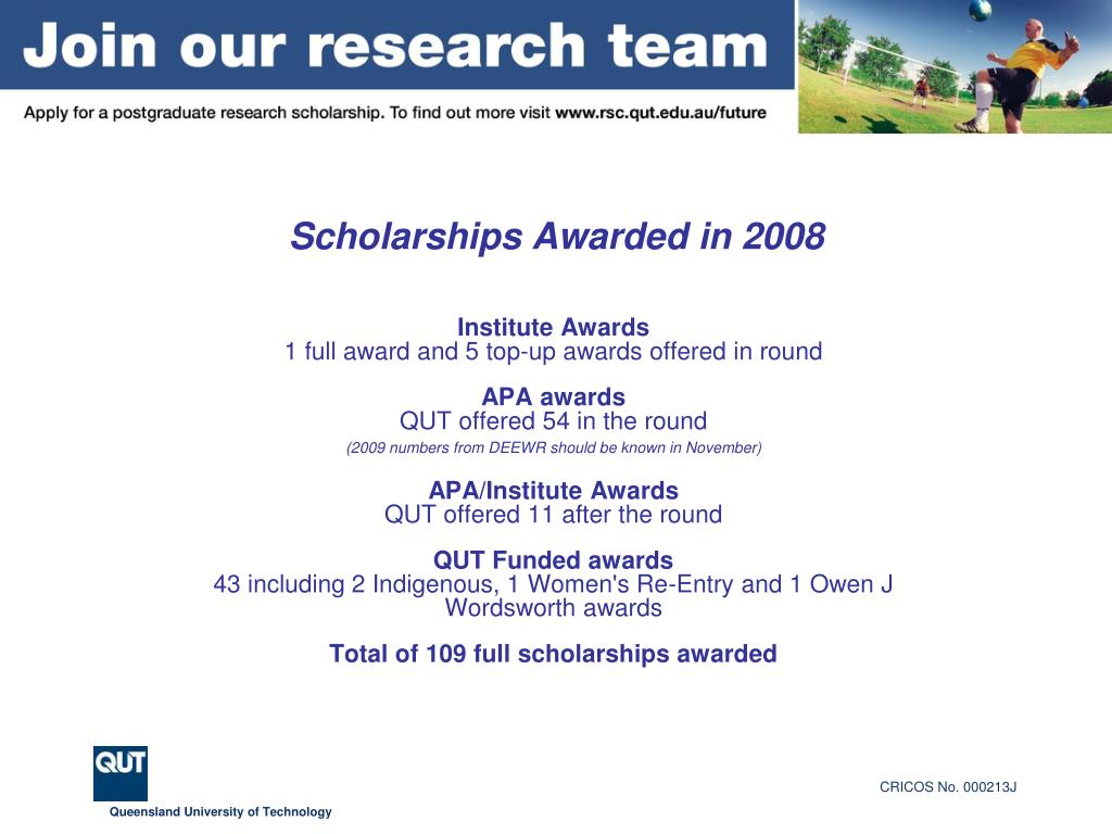 Scholarships Awarded in 2008