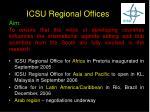 icsu regional offices