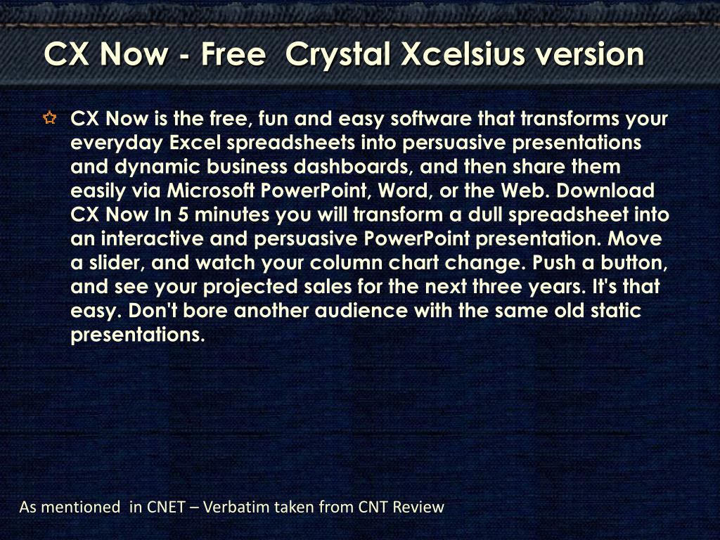 CX Now - Free  Crystal