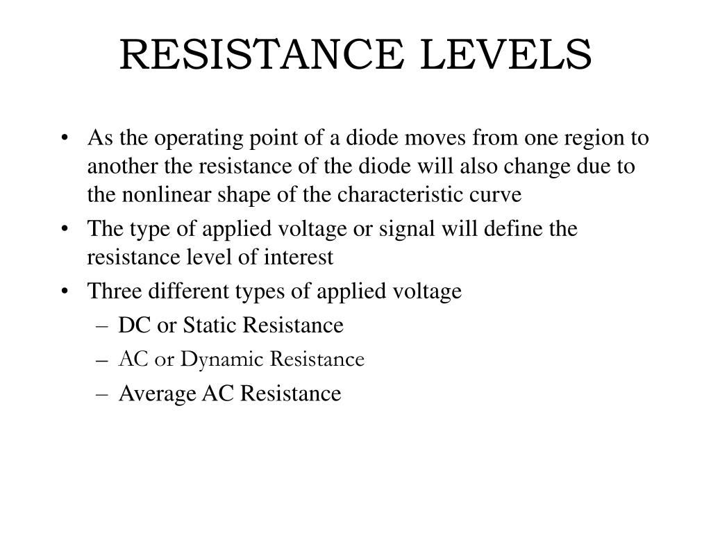 RESISTANCE LEVELS