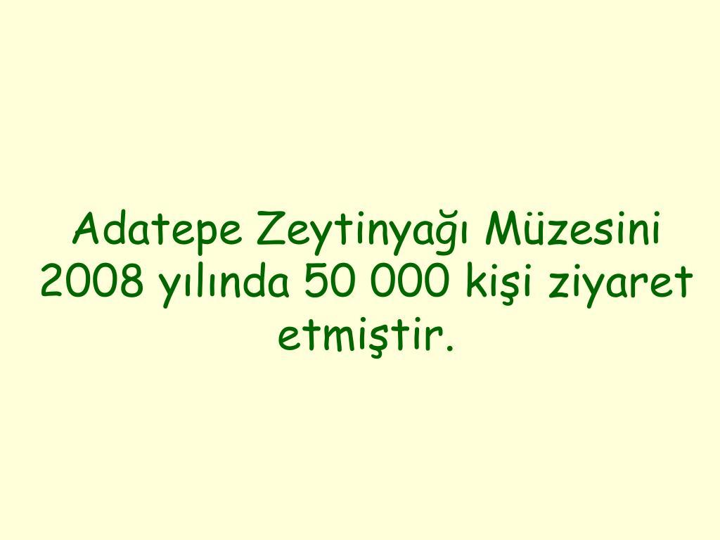 Adatepe Zeytinyağı Müzesini 2008 yılında 50 000 kişi ziyaret etmiştir.