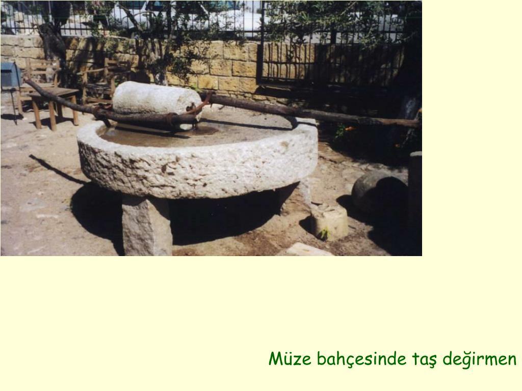 Müze bahçesinde taş değirmen