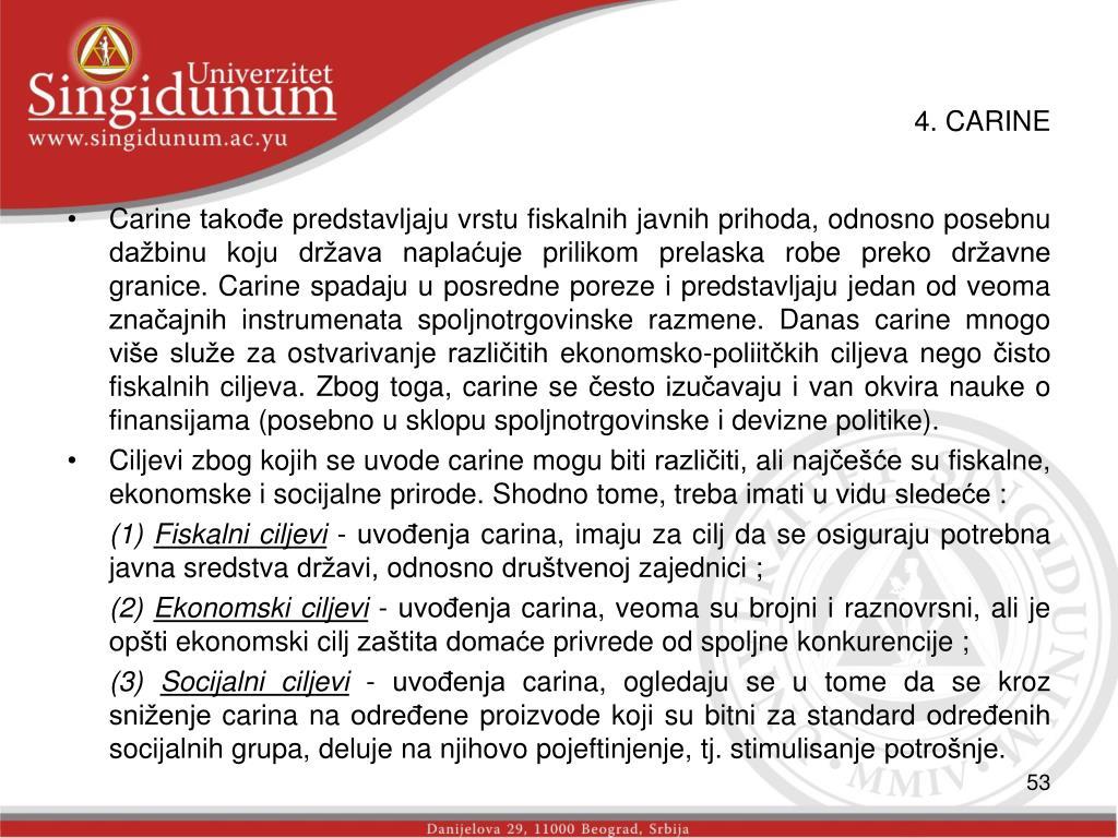 4. CARINE