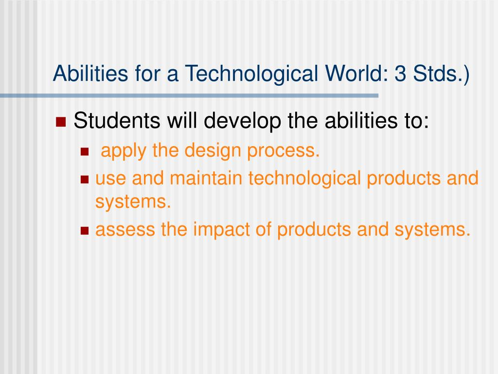 Abilities for a Technological World: 3 Stds.)